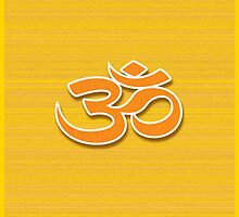 Aum symbol on textured background by 40degreesSouth