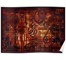 Steampunk Coronary Clockwork Gears Poster