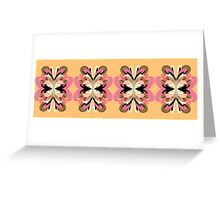 Four Flowers (yellow) Greeting Card