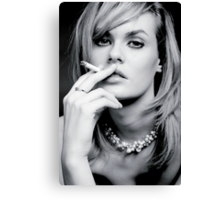 Glamourous smoker Canvas Print