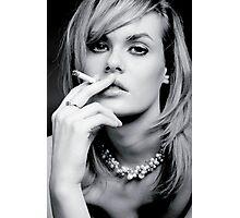 Glamourous smoker Photographic Print