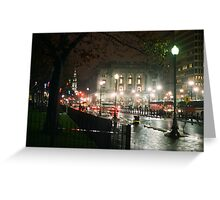 Providence at Night III Greeting Card