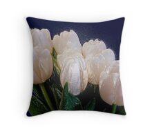 Plastic tulips? Throw Pillow