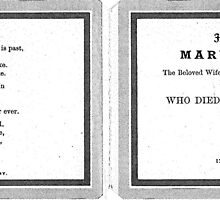 1908 Memory Card by Woodie