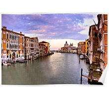 grand canal sunset Poster