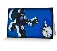Frightened as a Mouse Greeting Card
