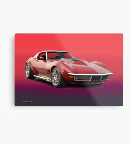 1969 Corvette Stingray VS3 Metal Print