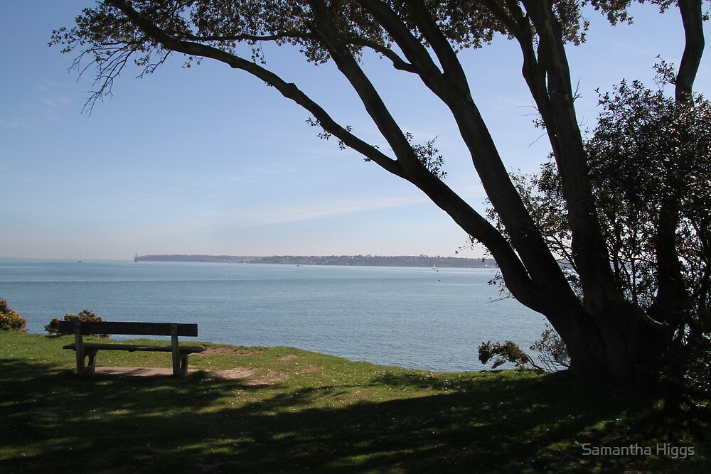 Sea View Over The Solent by Samantha Higgs