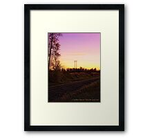 Rural Tracks (Columbia Falls, Montana, USA) Framed Print