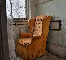 Orange arm chair by DariaGrippo