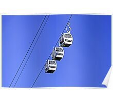 Cable Cars Above Matlock Bath Poster