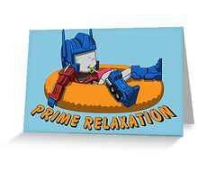 Prime Relaxation Greeting Card