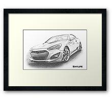 Sketch Genesis Black Framed Print