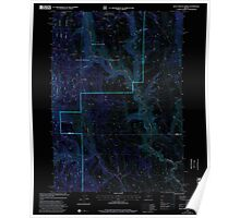 USGS Topo Map Oregon Buck Trough Spring 279174 1999 24000 Inverted Poster