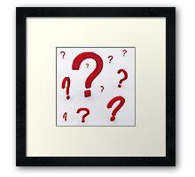 Question Framed Print