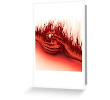 Hands on Fire Greeting Card