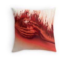 Hands on Fire Throw Pillow