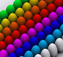 Colorful eggs by Brünø Beach .