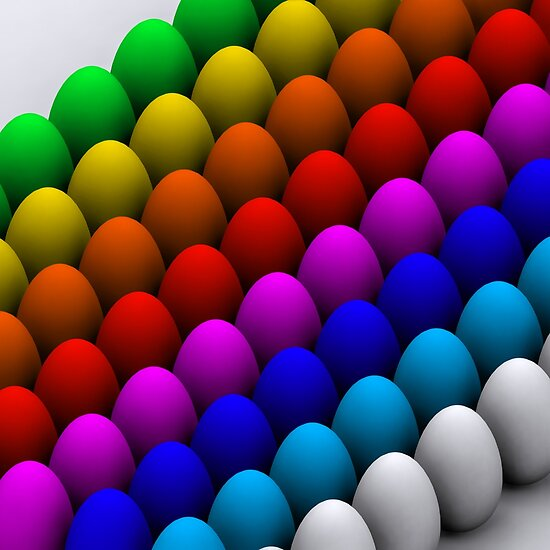 Colorful eggs by Digital Editor .
