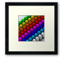 Colorful eggs Framed Print