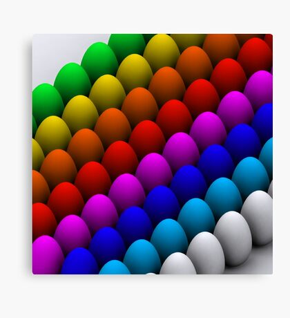 Colorful eggs Canvas Print