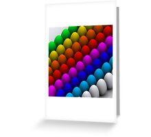 Colorful eggs Greeting Card