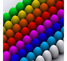 Colorful eggs Photographic Print