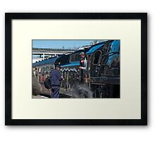Are we on time? The Cathedral Express Steam Train Framed Print