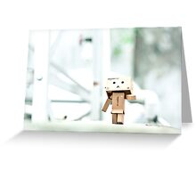 Danbo's Morning Stroll Around the Neighborhood Greeting Card