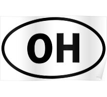 Ohio - OH - oval sticker and more Poster