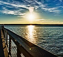 Jordan Lake Pier by DBGuinn