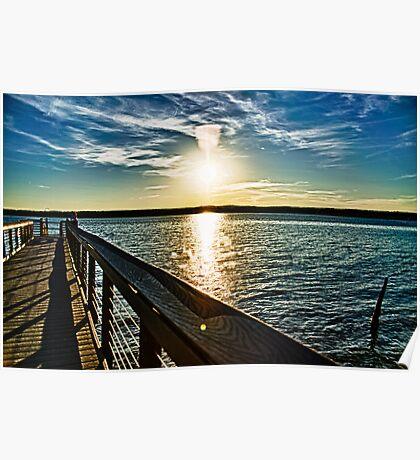 Jordan Lake Pier Poster