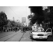 Burning Cruiser - G20, Toronto Photographic Print
