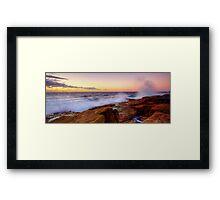 Splatter - Little Bay Framed Print