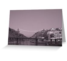 Clifton suspention bridge B/W Greeting Card