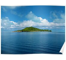 Patterned Island Poster