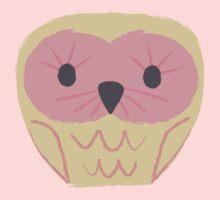 Pink & Lemon Cute Owl by Pip Gerard