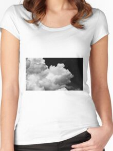 Cumulus Clouds Women's Fitted Scoop T-Shirt
