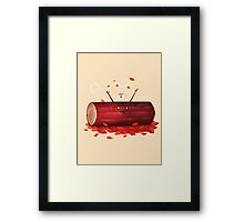 Pumpkin Spice Log(tte) Framed Print