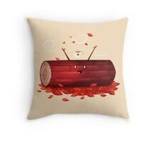 Pumpkin Spice Log(tte) Throw Pillow