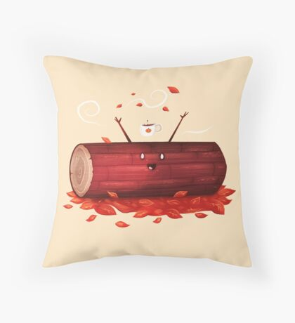 Pumpkin Spice Log(tte) Throw Pillow