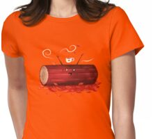 Pumpkin Spice Log(tte) Womens Fitted T-Shirt