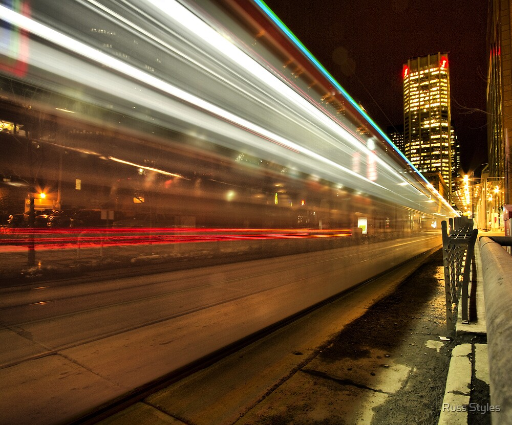 """""""7th Avenue Phfreeze out...""""...(Centre St. Station, Calgary, Alberta, Canada) by Russ Styles"""