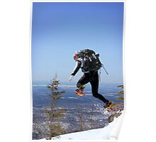 Snowshoeing in Monts Valins, Quebec Poster