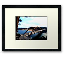 Austin 360 Bridge - Tilt Shifted Framed Print