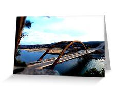 Austin 360 Bridge - Tilt Shifted Greeting Card