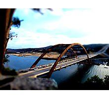 Austin 360 Bridge - Tilt Shifted Photographic Print
