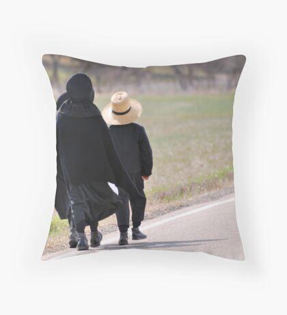Amish near Breman, Ohio Throw Pillow
