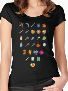 Zelda Inventory Women's Fitted Scoop T-Shirt