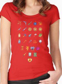 Zelda Inventory Women's Fitted Scoop T-Shirt
